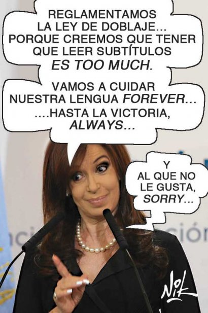 Ley de doblaje según CFK